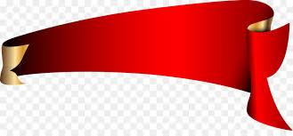 Kırmızı Başlık - Kırmızı rulo açı vektör afiş şeffaf PNG görüntüsü
